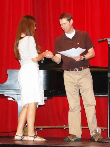 Brooklyn Hanks ~ 2012 PJK NHS Scholarship presented by Blaine Bird