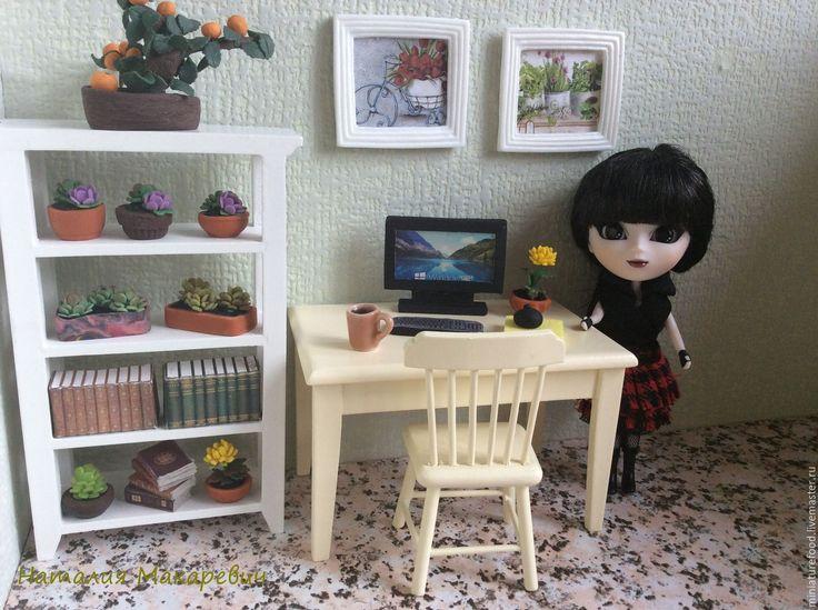 Купить Компьютер для кукол. - миниатюра, миниатюра для кукол, миниатюрная мебель, миниатюра 1 12