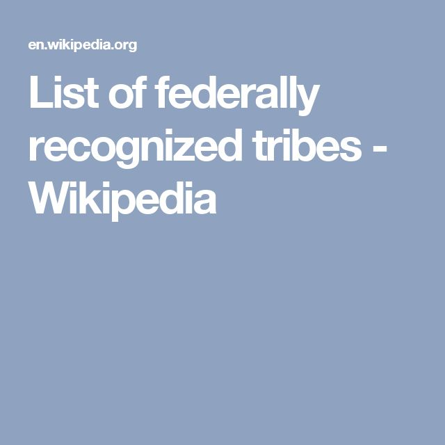 List of federally recognized tribes - Wikipedia