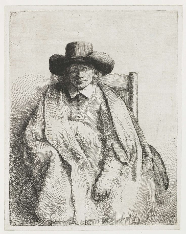 De prentverkoper Clement de Jonghe, Rembrandt Harmensz. van Rijn, 1651