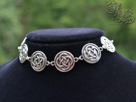 "Necklace choker "" Slave of Metal "" by North Shaman Celtic gothic viking pagan knot interlaced interlacing jewellery"
