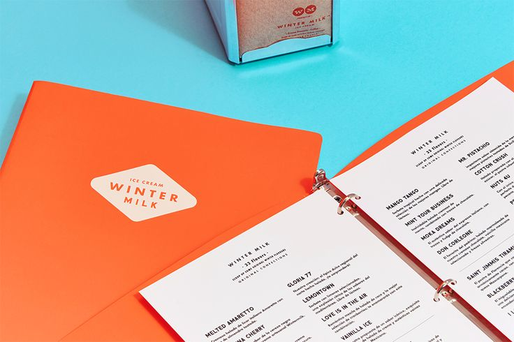 We Love Menus. Winter Milk. Design by www.anagrama.com