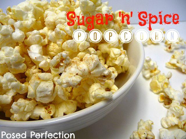 Perfection: Sugar 'n' Spice Popcorn - with nutmeg, cinnamon and sugar...