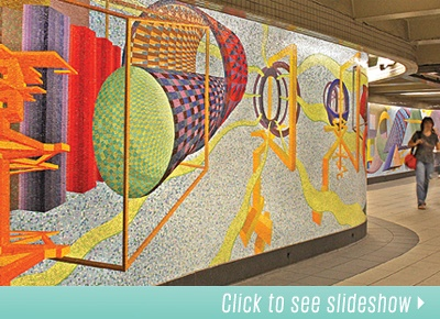 If only this existed while I was living in NYC - app that tells you about all the subway art installations!  How cool is that?!?