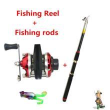 Smallest Bait Casting Mini Ice Fishing Reel with Line 50M Fishing Rod carretilha de pesca cheap