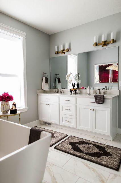 ANDREA WEST DESIGN BLOG: Fuchsia & Marble Master Bath    Sources for the Mecham Dream Home Master Bath!!