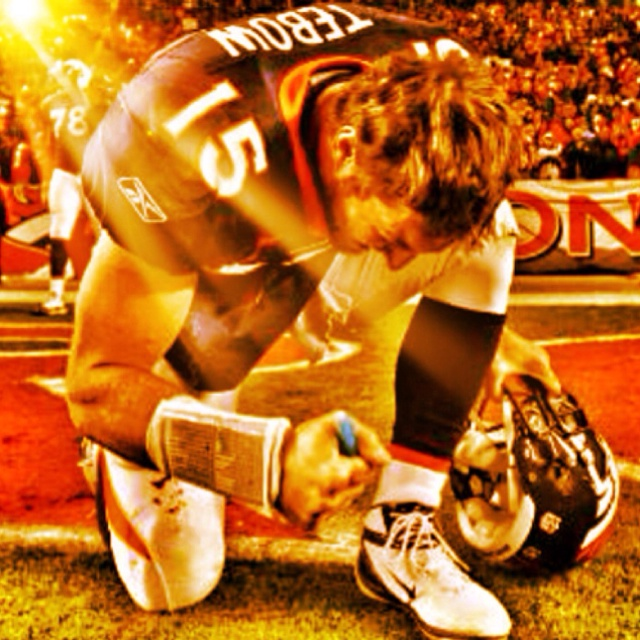 Tim Tebow after the playoff win. :)