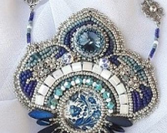My Sweet Flower Bead Embroidery Necklace