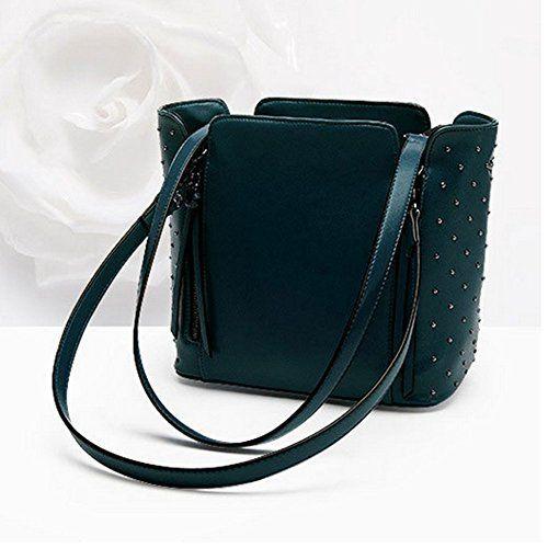 BagVenus Autumn New Rivet Female Vintage Fashion Shoulder Handbag(C4) *** You can find out more details at the link of the image.