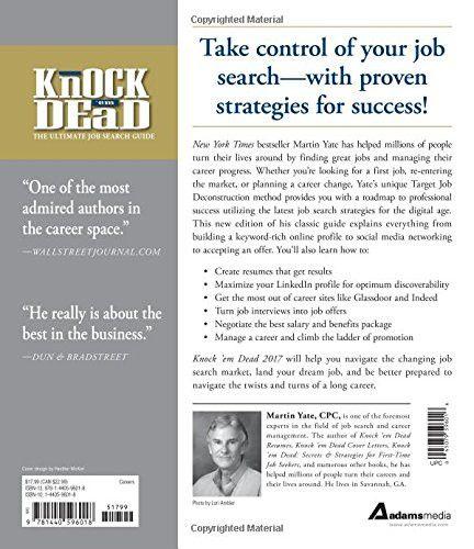 em Dead 2017 The Ultimate Job Search Guide - knock em dead resumes