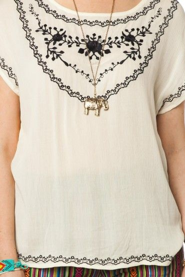Nerissa Embroidery Tee