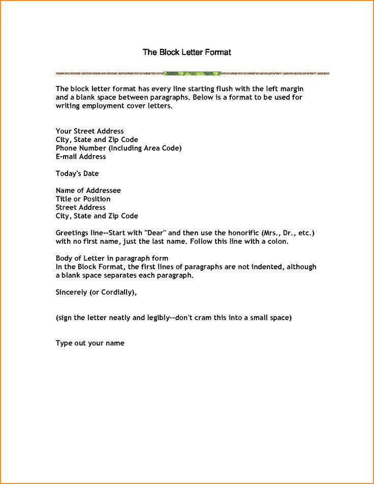 Die Besten  Business Letter Format Example Ideen Auf