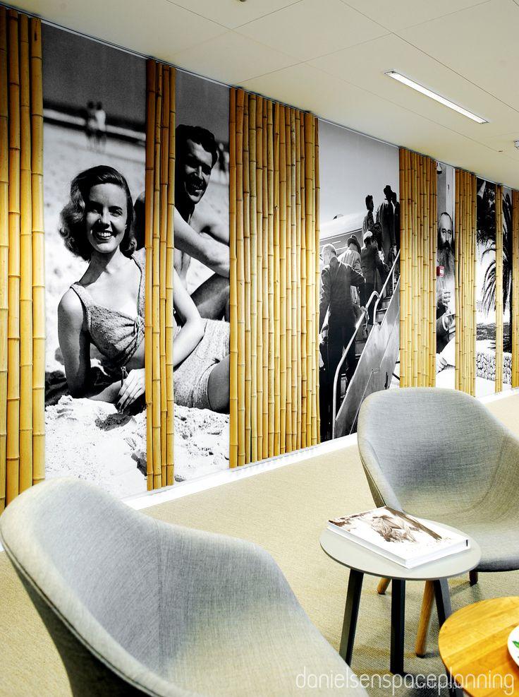 Wall-deco - Spies' office in Copenhagen. Spaceplanning and interior design by Danielsen Spaceplanning.