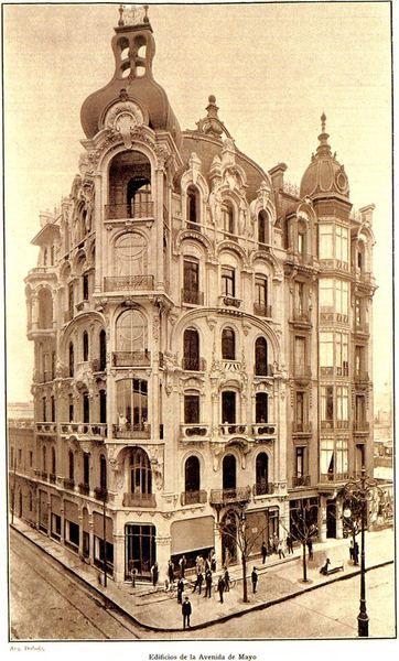 Buenos Aires - Art Nouveau | Hotel Chile con las cúpulas