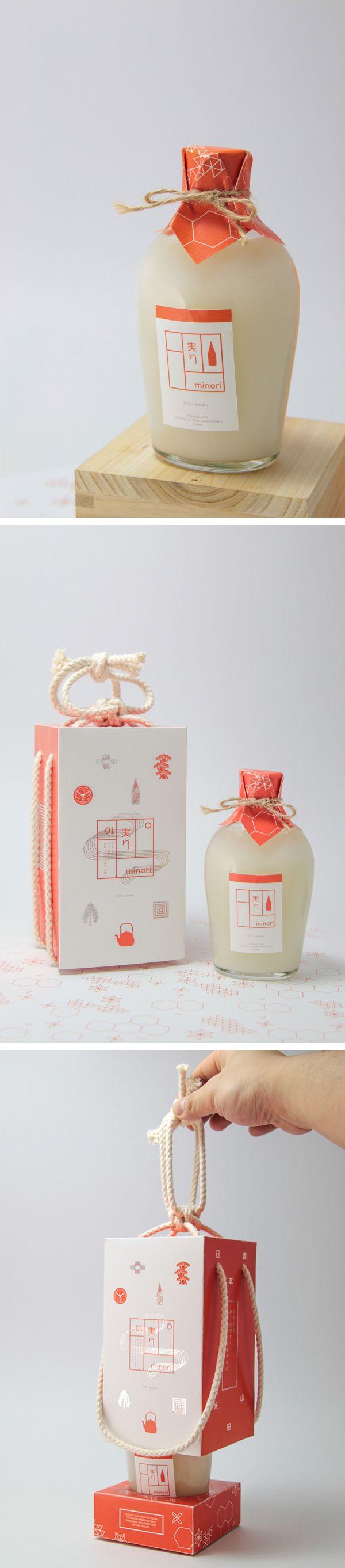 Minori Sake bottle Förpackad -Blogg om Förpackningsdesign, Förpackningar, Grafisk Design - CAP&Design