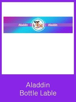 Aladdin Bottle Label - FREE PDF Download