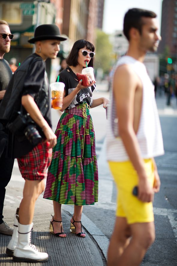 Sophia Amoruso. t shirt with full skirt