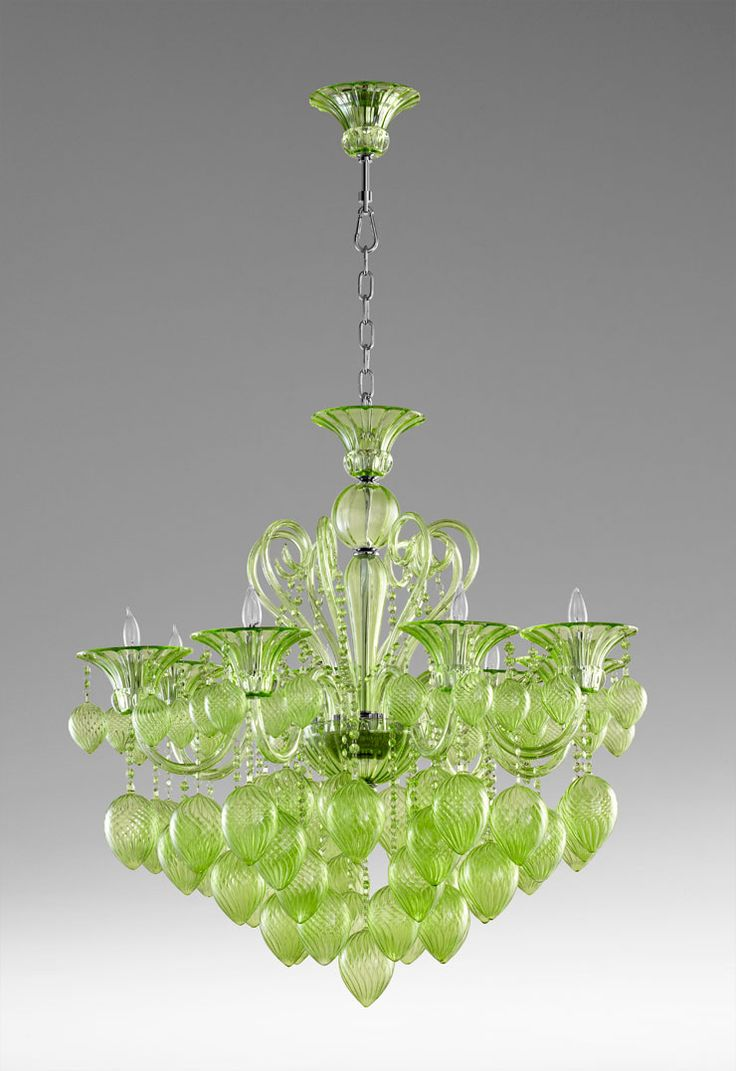 1609 best chandeliers images on pinterest chandeliers crystal murano green glass chandelier arubaitofo Choice Image