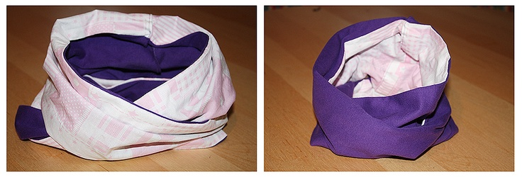 Nähen #1 - Kinderloop - rosa & lila