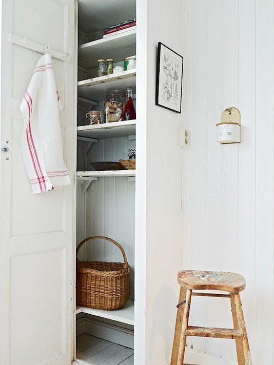 Perfect Pantry Nook (love the shelf supports)