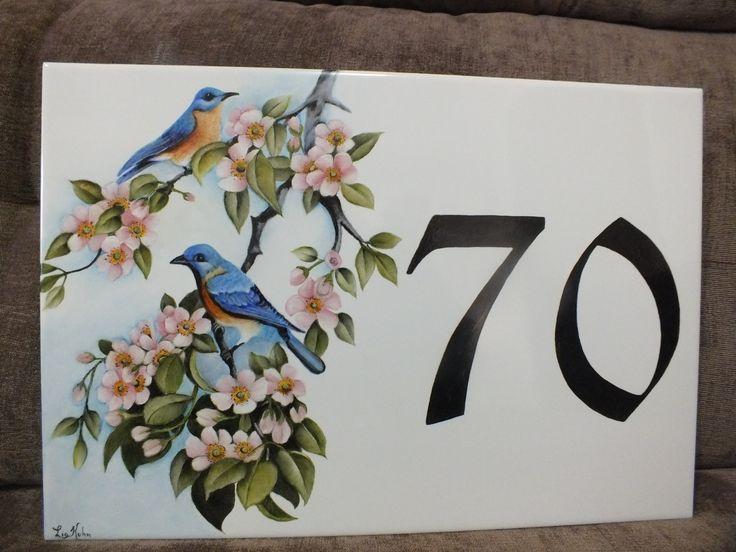 Pintado pássaros por Lia