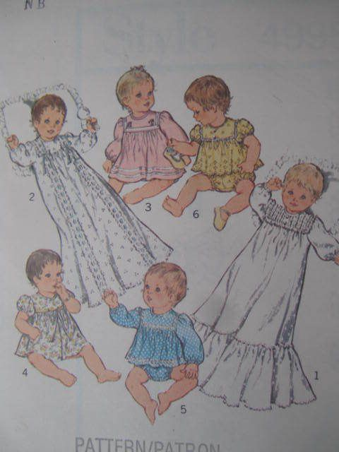 SeeSallySew.com - Christening Robe Layette Dress Top Panties Style 4995 Pattern Sz. 3 - 6 Kg.  Newborn , $12.99 (http://stores.seesallysew.com/christening-robe-layette-dress-top-panties-style-4995-pattern-sz-3-6-kg-newborn/)