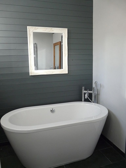 Love the horizontal tounge and groove taken from living for Living etc bathroom ideas