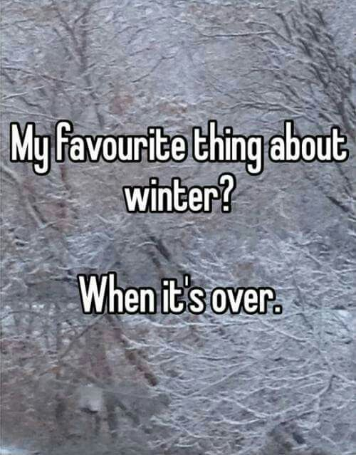It's not even winter yet and I want it to be over!  It's too cold already.