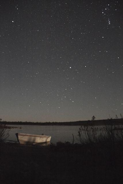 .eine laue Sommernacht, du und ich, die Stechmücken, die Grillen zirpen, das Wasser rauscht leise, das Boot schaukelt sanft mit dem Wasser im Einklang.  Findest Du meine Vorstellung auch so schön, als ich  ???