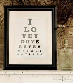 There's a website called Eye Chart Maker. You can input the words you choose and it will put them into eye chart format.