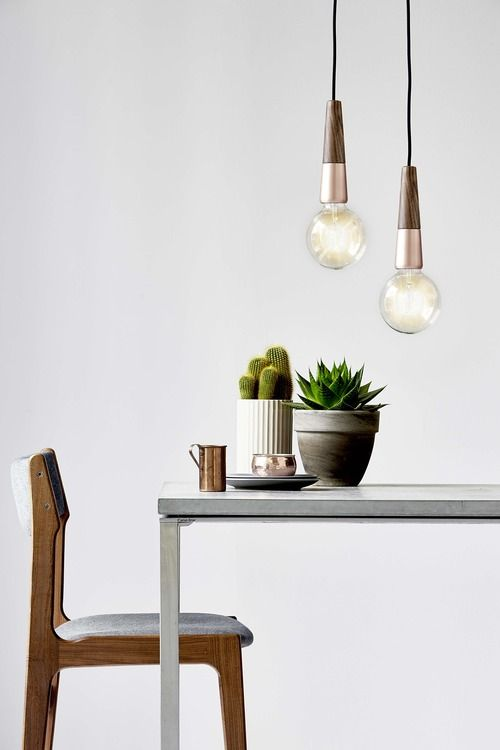 'Stripped' Pendant suspension by Nordlux. Looks great in a cluster!