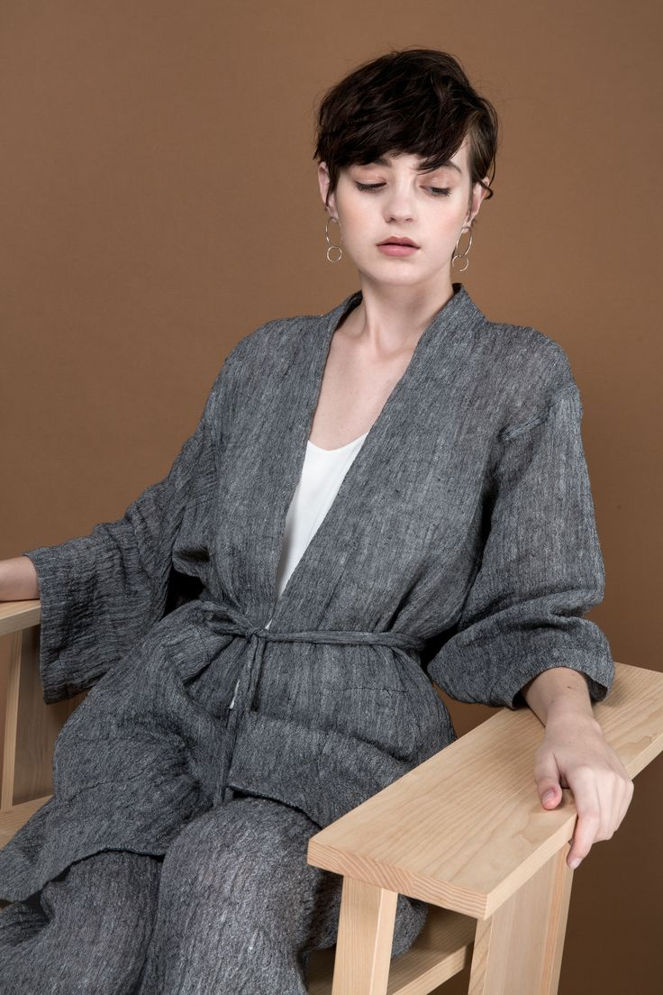 Uka Kimono and Predel Pant by OVNA OVICH Made in New Zealand from consciously sourced materials