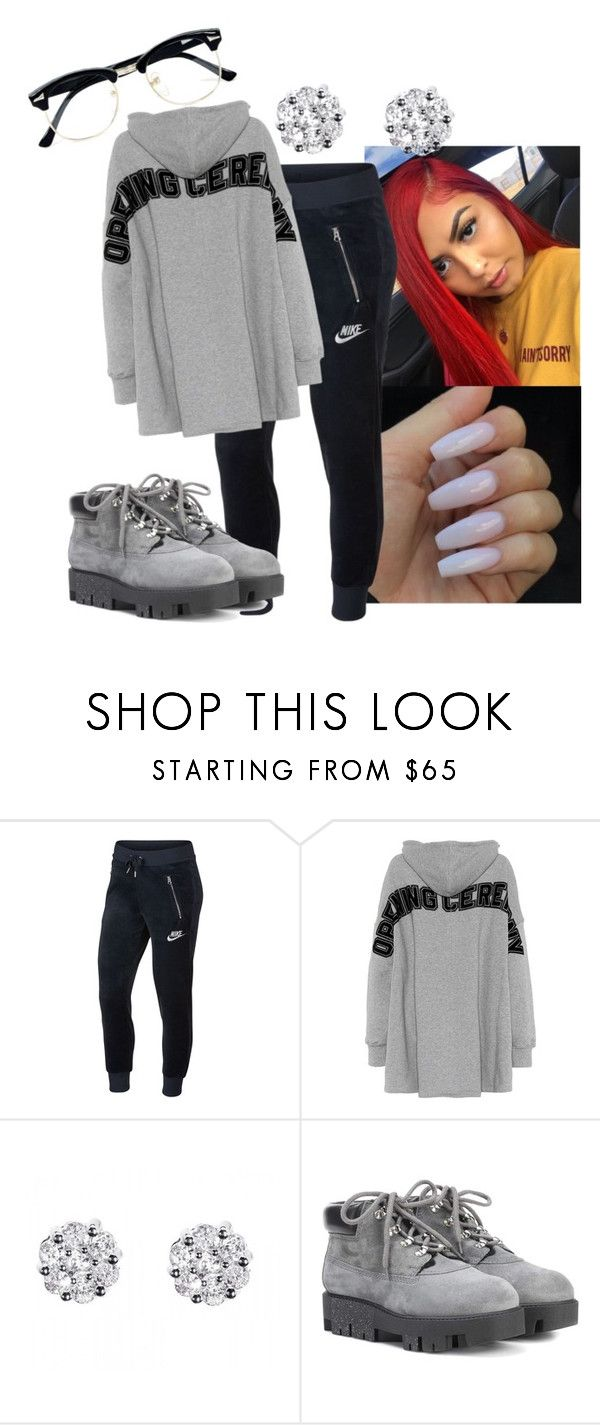 """""""Gave up on love fckin with them heartbreakers"""" by jayloveshim ❤ liked on Polyvore featuring NIKE, Opening Ceremony, Acne Studios, Topman and plus size clothing"""