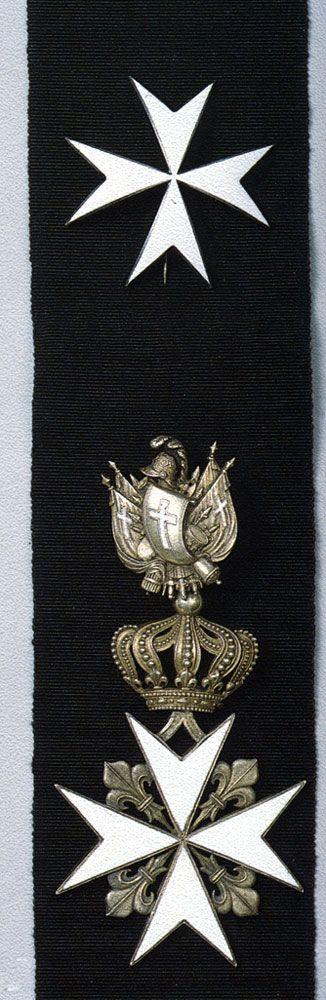 Звезда, лента и знак ордена св. Иоанна Иерусалимского 1-й степени