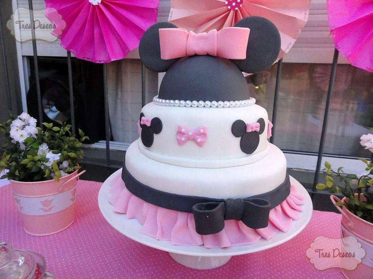 Torta Decorada Minnie Mouse Mickey Y Minnie Mouse