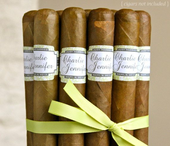 16 Wedding Cigar Bands  Custom Printed Labels  by iLabelCigars, $24.95 for Billy and boys