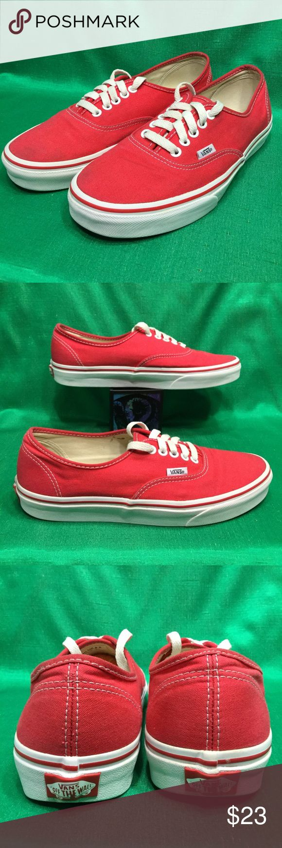 VANS AUTHENTIC red sk8 pro atwood lo 🔥 W10 m8.5 Clean . Gentle wear . No issues . Women's 10 Vans Shoes