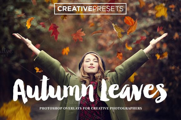 Autumn Falling Leaves Overlays by CreativePresets.com on Creative Market