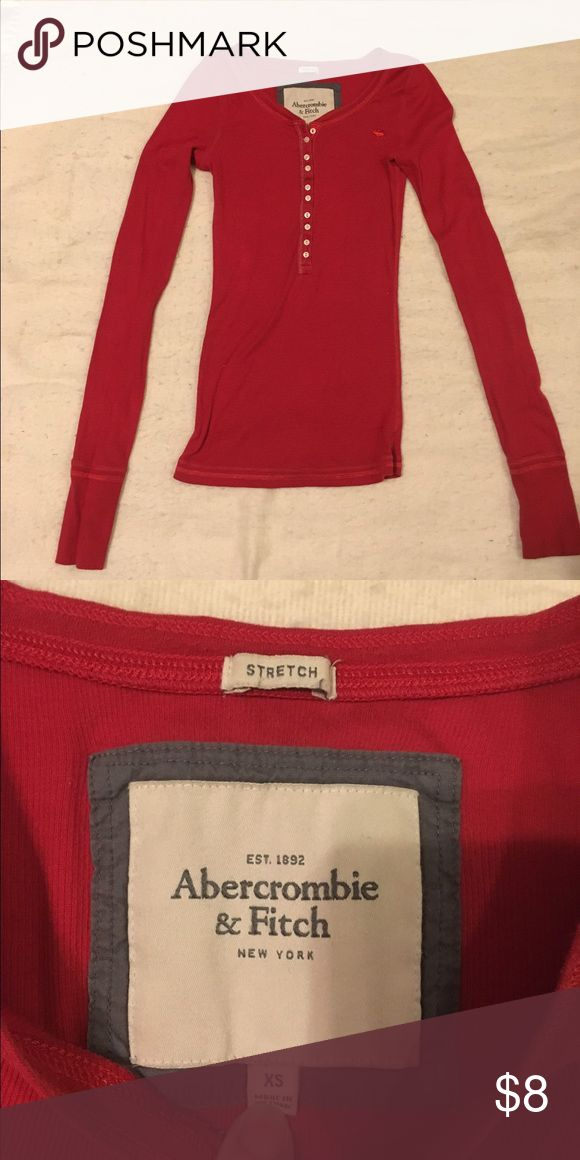 Long sleeve Abercrombie and Fitch top Long sleeve maroon Abercrombie top, slim fit and worn only a couple times. Abercrombie & Fitch Tops Tees - Long Sleeve