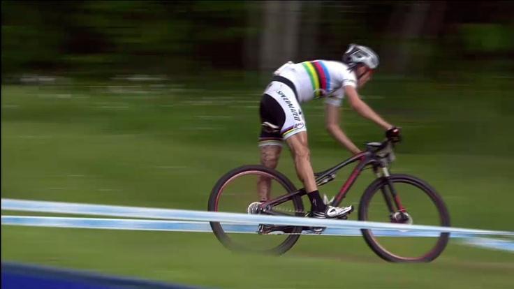 Jaroslav Kulhavy 3º en Mont-Sainte-Anne, 5ª prueba de la UCI Mountain Bike World Cup XCO, con su S-Works Epic 29er. Max Plaxton 5º y Burry Stander 7º.