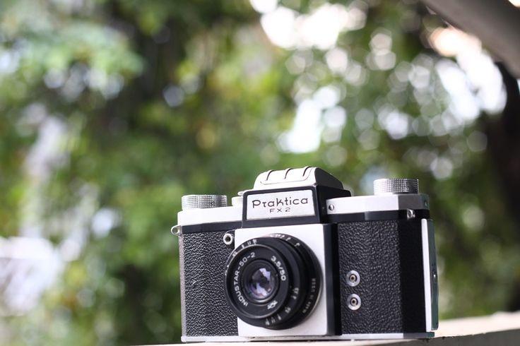 KW (Kamera-Werksttten) Praktica FX2 35mm SLR with Industar 50-2 50mm f3.5 M42 Mount.