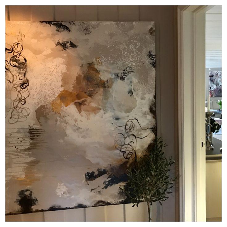 Maleriet What Comes Around Stays Around 140 cm x 160 cm