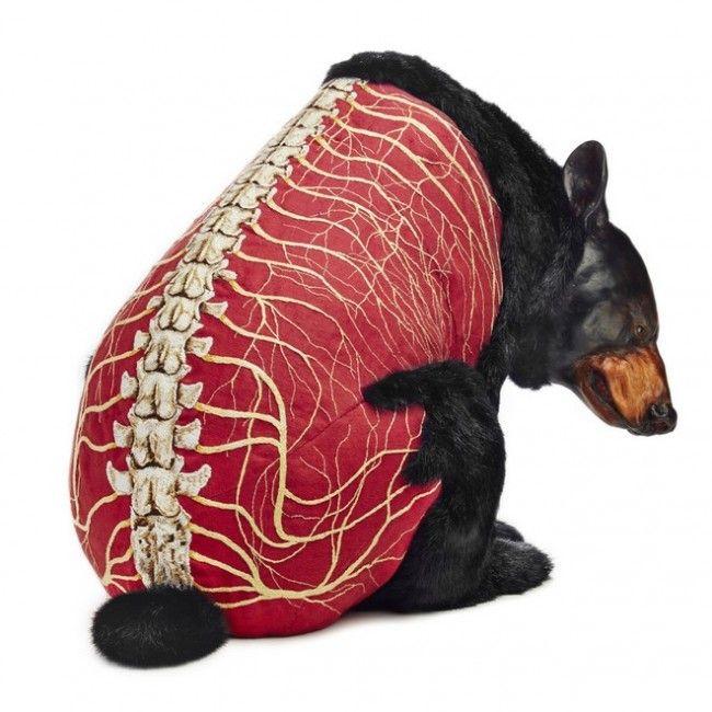 A simple vista cualquiera diría que es taxidermia, sin embargo, no son más que esculturas de lino, arcilla, piel sintética, entre otros materiales