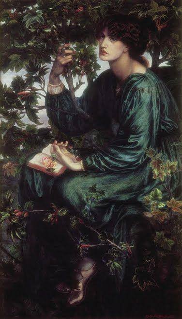 The Day Dream by Dante Gabriel Rossetti c. 1880 #rosetti #fineart #daydream