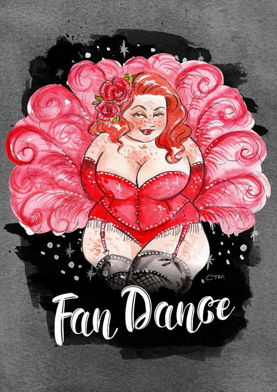 """Plus Size Art: Burlesque Beauties by Illustrator Charlotte Thomson-Morley http://thecurvyfashionista.com/2017/07/plus-size-art-burlesque-beauties-by-illustrator-charlotte-thomson-morley/  """"My curvaceous Burlesque beauties were created to remind us that we can all be sexy and empowered! """"  In the mood for a little shimmy and a shake? Hold on to your pasties, pretties! Meet the artist behind stunning plus size burlesque art, Charlotte Thomson-Morley!"""