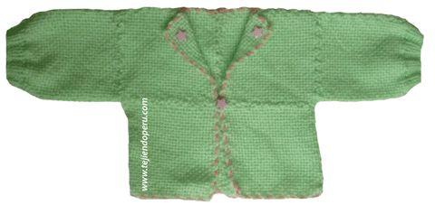 Tutorial: chaquetita para bebés tejida en telar de mesa cuadrado de 11 por 11 cm.
