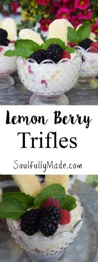 These Lemon Berry Trifles are the perfect spring treat!   They are light and refreshing with a little bit of tart and sweet creaminess that will have your taste buds wanting another bite!