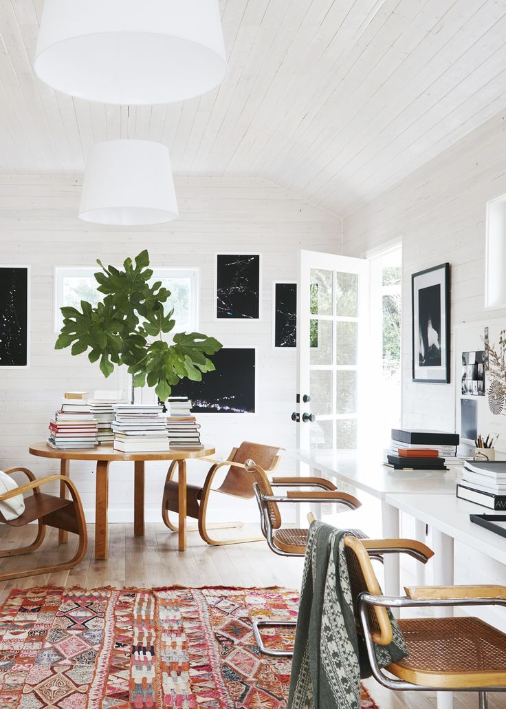 a bright backyard cottage office space | ranch house tour on coco kelley