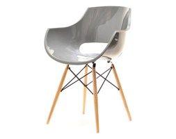 Krzesło Grund Szare