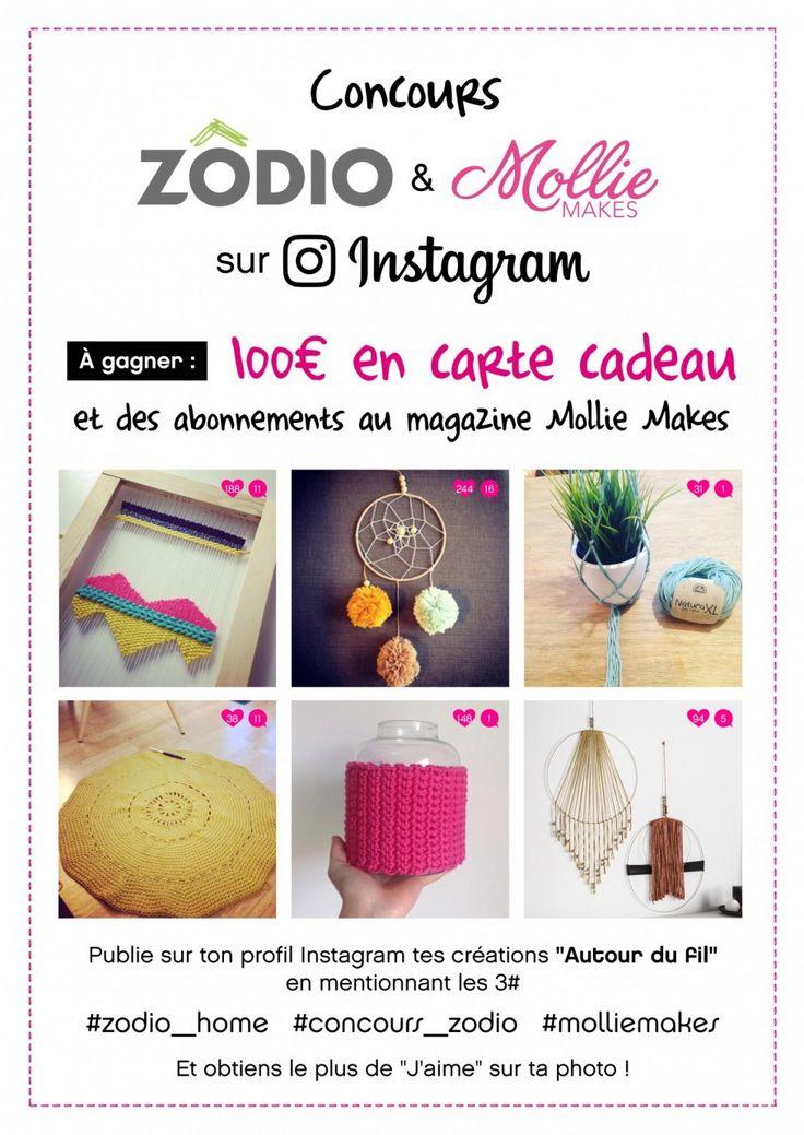 """Concours Instagram Zôdio&Mollie Makes """"autour du fil"""" #concours_zodio"""